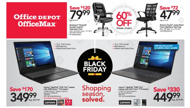 Office Depot And Office Max Drop Black Friday 2019 Ad Time Bulletin