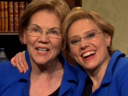 Saturday Night Live Brings in U.S. Sen. Elizabeth Warren meets Kate McKinnon as Fox News host Laura Ingraham