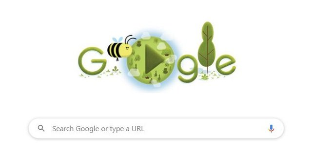 Google doodle on Earth Day 2020