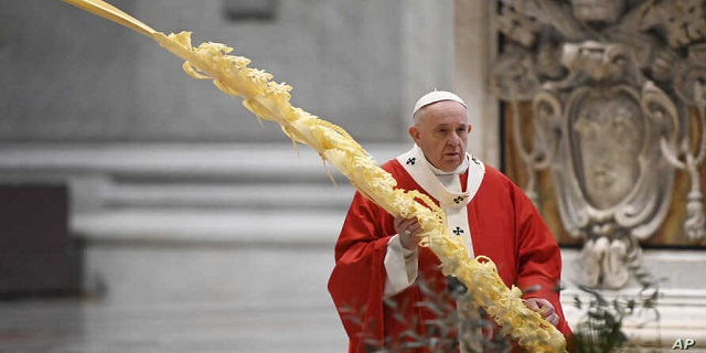 Pope Francis Celebrates Palm Sunday 2020 Mass
