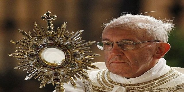Pope Francis will celebrate Mass for Feast of Corpus Christi in St Peters Basilica on Sunday