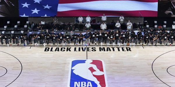 Every NBA player kneel during the National Anthem before restarting leagues season