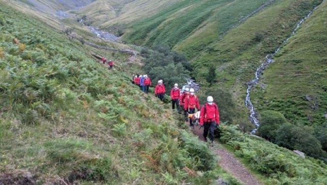 st bernard rescue england highest peak scafell pike mountain