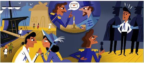 Google Doodle Slideshow Celebrating Alexandre Dumas 1