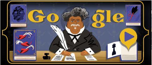 Google Doodle Slideshow Celebrating Alexandre Dumas