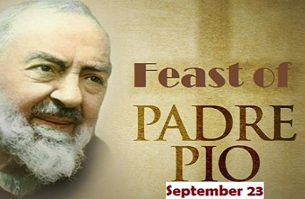 Feast of Saint St Padre Pio