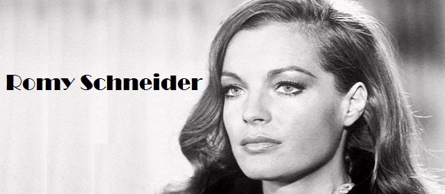 German French actress Romy Schneider