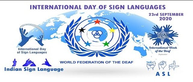 International Day of Sign Languages as part of the International Week of the Deaf