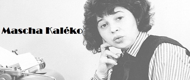 Poet Mascha Kaléko
