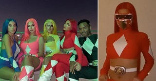 Kylie Jenner as the red Power Ranger