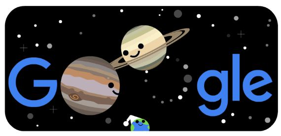 Google Doodle Celebrates Summer and Winter Solstice 2020 and The Great Conjunction at Northern Hemisphere and Southern Hemisphere