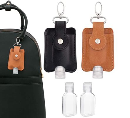 Portable hand sanitizer with keychain