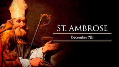 Why is Feast Day of St Ambrose celebrated