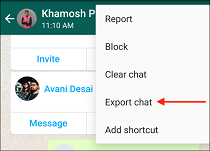 4 Tap Export Chat in WhatsApp