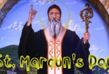 Feast day of Saint Maron otherwise called St Marouns Day