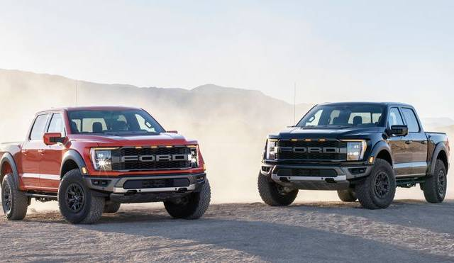 Ford reveals a new version of exceptionally beneficial F 150 Raptor performance pickup designs model with a V 8 engine