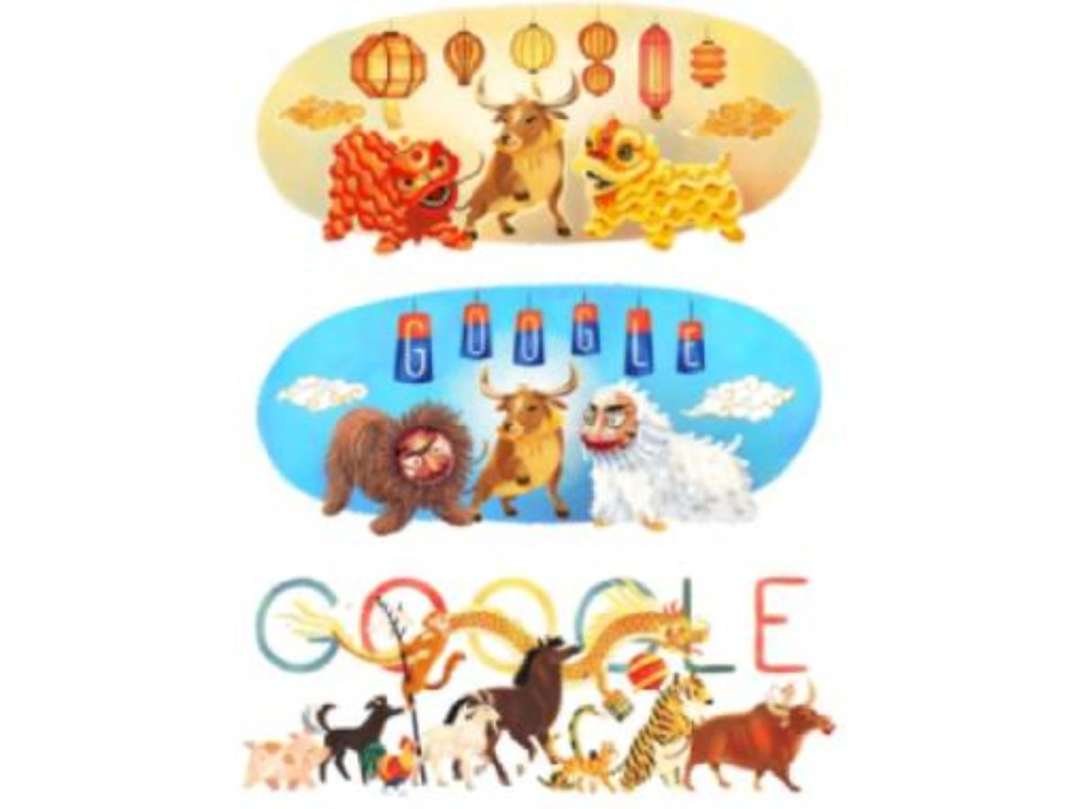 Google Doodle Celebrates Lunar New Year 25 in Multiple Countries ...
