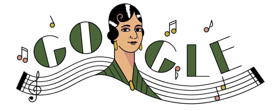 Google Doodle for Celebrating Maria Grever 1