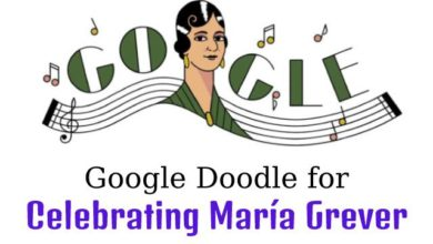 Google Doodle for Celebrating Maria Grever
