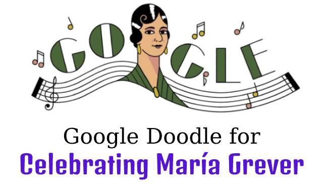 Google Doodle for Celebrating Maria Grever