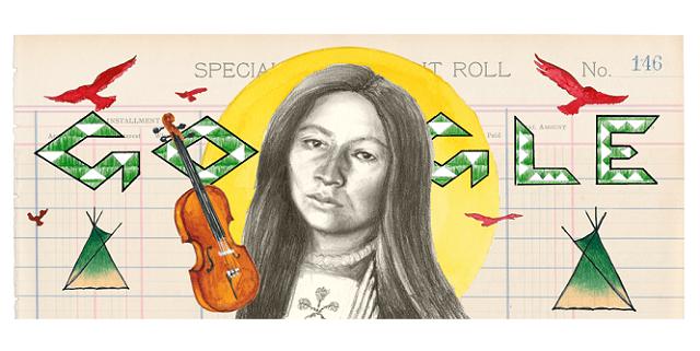 Image result for zitkala sa google doodle
