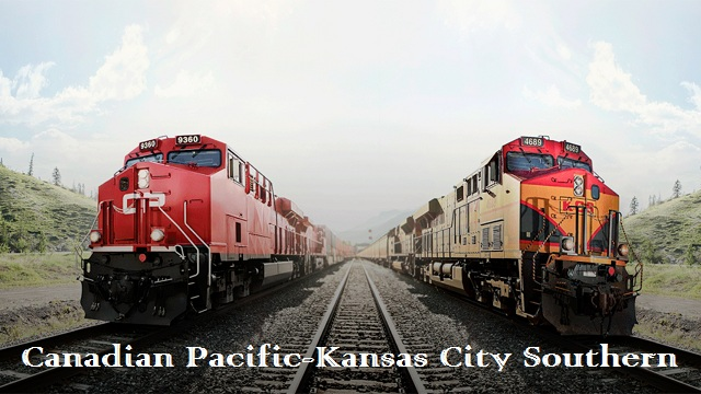 Canadian Pacific Kansas City Southern railroad megamerger would make the first Mexico US Canada freight rail network