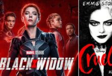 Cruella and Black Widow movies will be released on May 28 and July 9 respectively