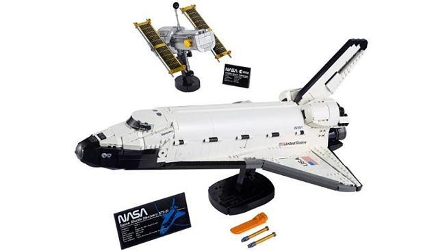 Lego celebrates the 40th anniversary of the first space shuttle flight with the launching of a new set Space Shuttle Discovery and Hubble Space Telescope