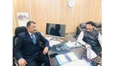 Vikas Trivedi director DAIC Ministry of Social Justice Empowerment meets ace politician and businessman Shrayam Bhargava