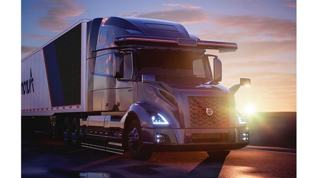 Volvo Autonomous Solutions and self driving startup Aurora collaborate on completely autonomous semi trucks for North America