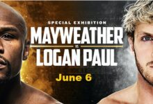 Floyd Mayweather Jr vs Logan Paul Exhibition Boxing fight set to happen on June 6