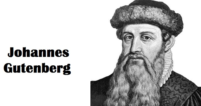 Interesting Facts about printing press inventor Johannes Gutenberg