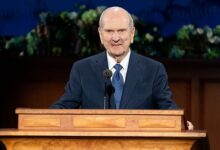 President Russell M. Nelson declares plans for the church to construct 20 new temples around the world