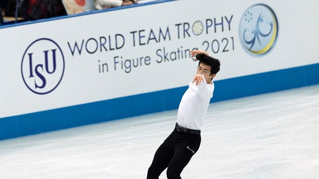 World Team Trophy results Nathan Chen beat Yuzuru Hanyu in the mens short program Russia leads at the figure skating World Team Trophy