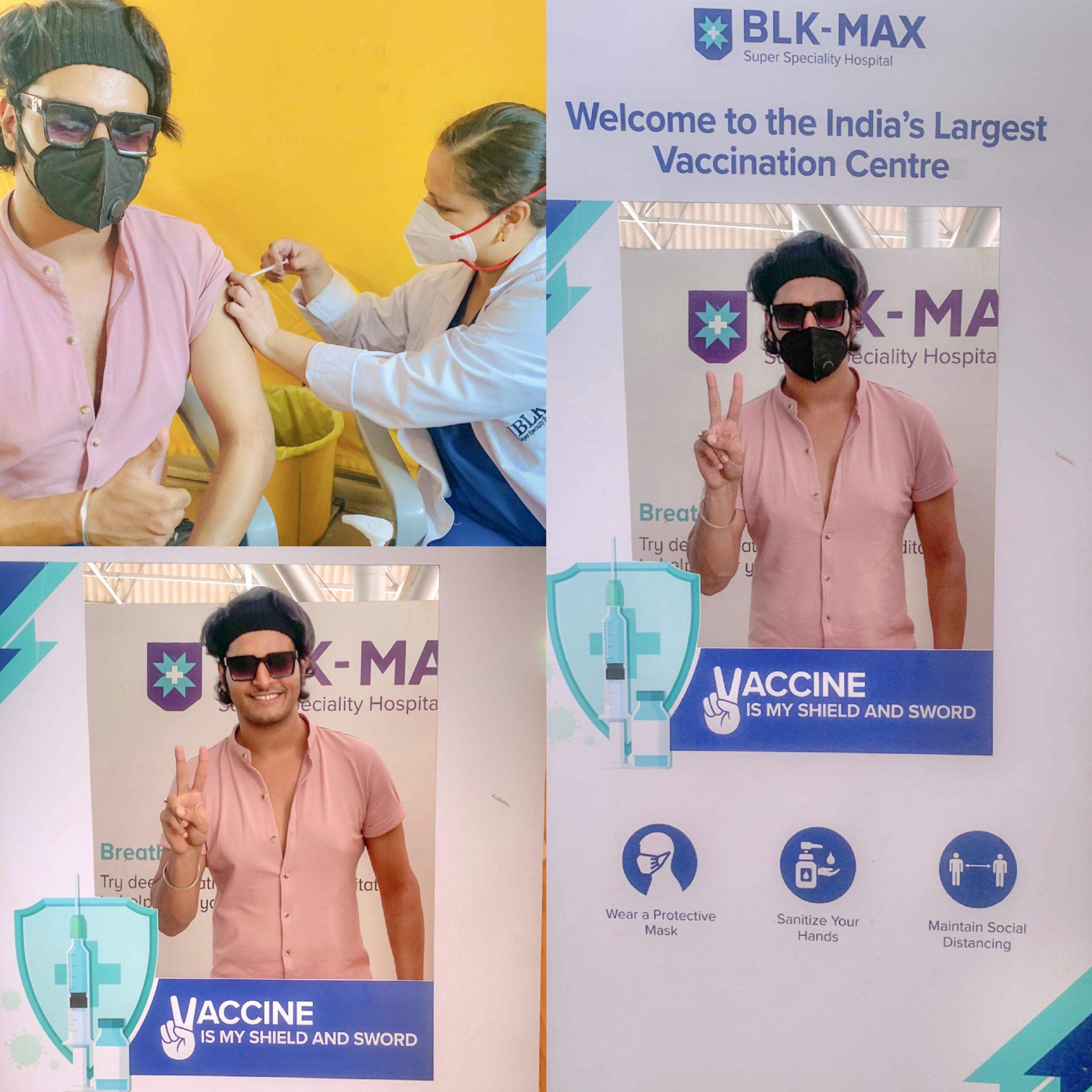 Raghav vaccinated