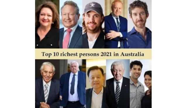Top 10 richest persons 2021 in Australia Rich List