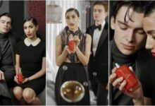 London Power Couple Mathias le Fevre Ciinderella Balthazar Features New Christian Louboutins Fragrance Campaign