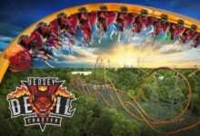 Six Flags Great Adventure is debuting the worlds tallest single rail roller coaster Jersey Devil in New Jersey