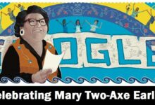 celebrating mary two axe earley Google Doodle