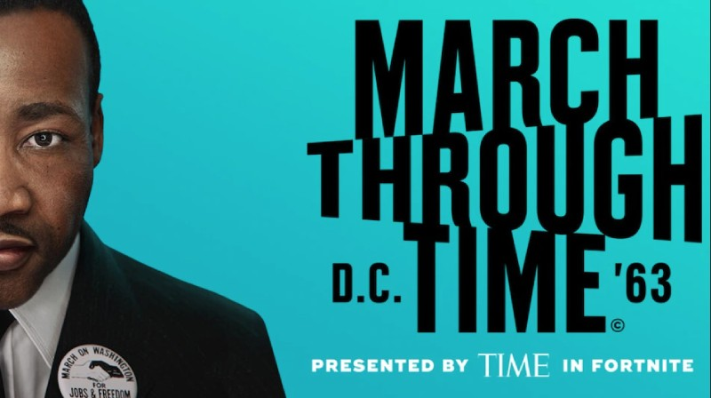 Fortnite collaborates with Time Magazine for March Through Time to celebrate Dr Martin Luther King Jr speech