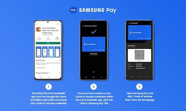 How to add COVID 19 vaccination records to Samsung Pay on Samsung Galaxy phones