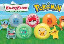 Pokémon and Krispy Kreme are working together for their 25th anniversary with Pokémon themed icing doughnuts