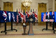 The US UK and Australia declare a security partnership AUKUS which allow Australia to assemble nuclear powered submarines