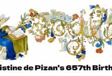 christine de pizan 657th birthday