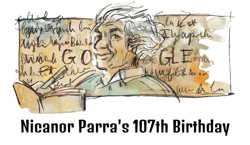 nicanor-parra-107th-birthday